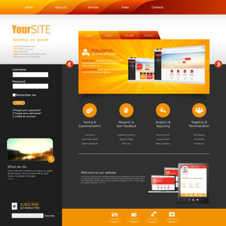 web site design template: Template for website