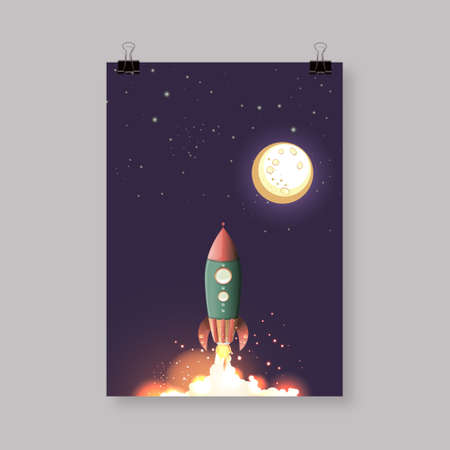 rocket: Abstract A4  A3 poster template design with your text Eps 10 vector illustration Illustration