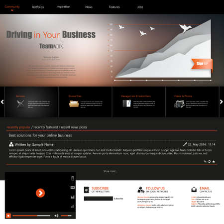webtemplate: Website template for corporate business. Ideal for company blogs.