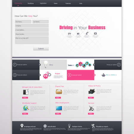 submit search: Clean Business Professional Website Template, Eps 10, Vector illustration.