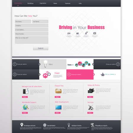 online form: Clean Business Professional Website Template, Eps 10, Vector illustration.