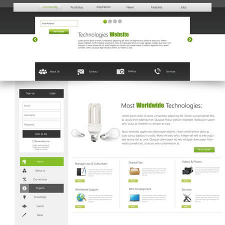 Green Website Template