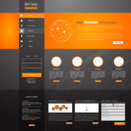 Modello di progettazione sito Web, vector.