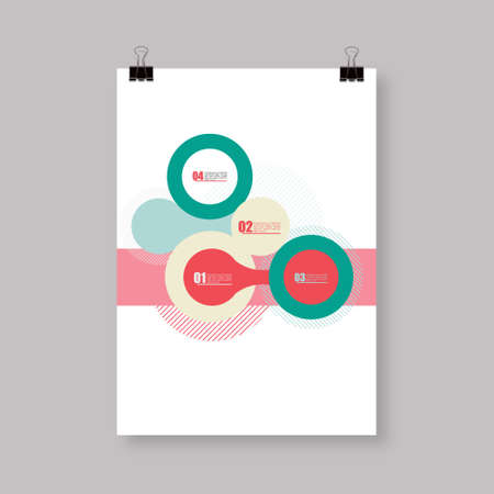 a3: Flyer or Cover Abstract A4  A3 poster template design with your text Eps 10 vector illustration