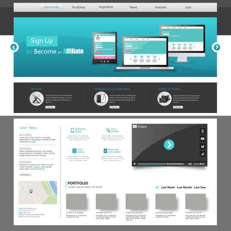 website button: Clean Website Template