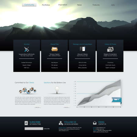 web site: Vector Website Template Design Eps 10