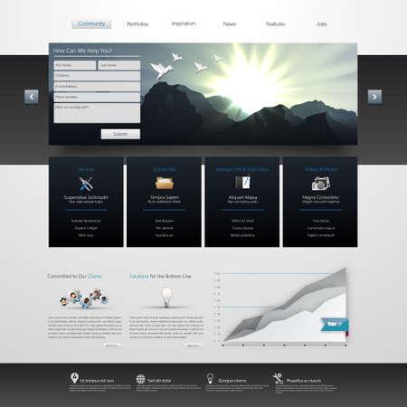 website: Vector Website Template Design Eps 10