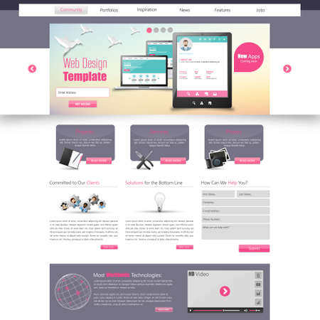 website template: website template for smart phone company