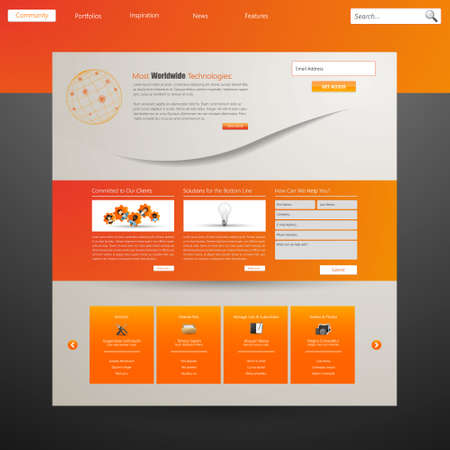 web site design template: Web site design template, vector.