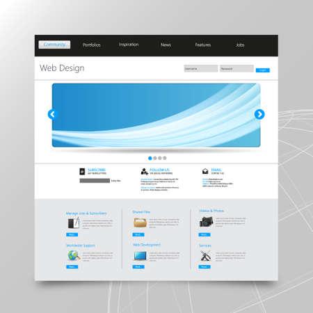 submenu: business website template