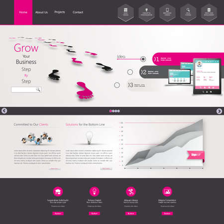web site design template: Website Template. Eps 10 Vector illustration Illustration