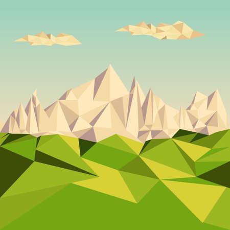 untamed: Polygonal background, Mountainous terrain, vector illustration.