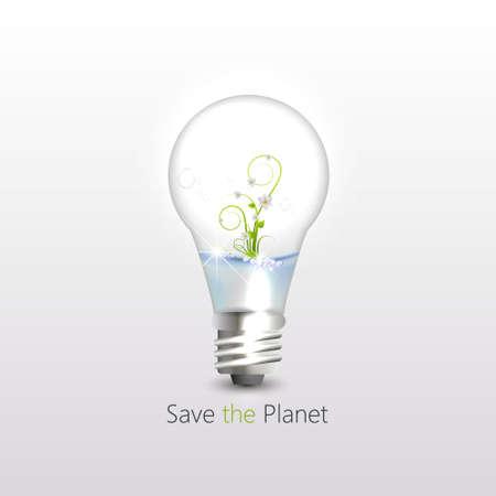 sapling: illustration of plant sapling in light bulb