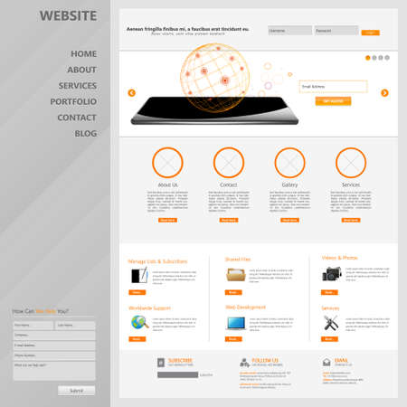 Website Template. Vector illustration. Vector