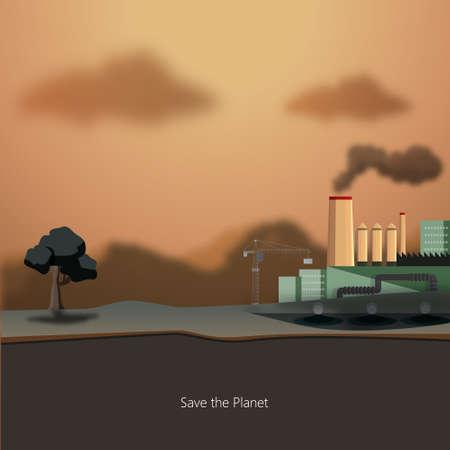 heavy industry: Heavy industry theme. Save the Planet!