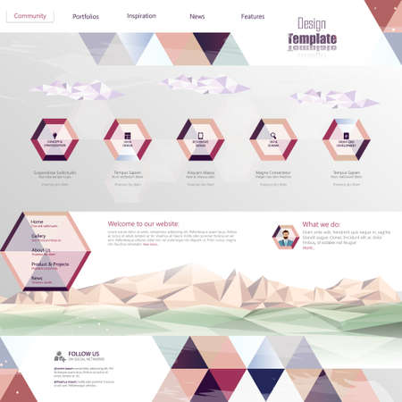 Website Template Abstract Unusual Design,