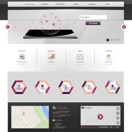 Website Template. Vector illustration. Vector
