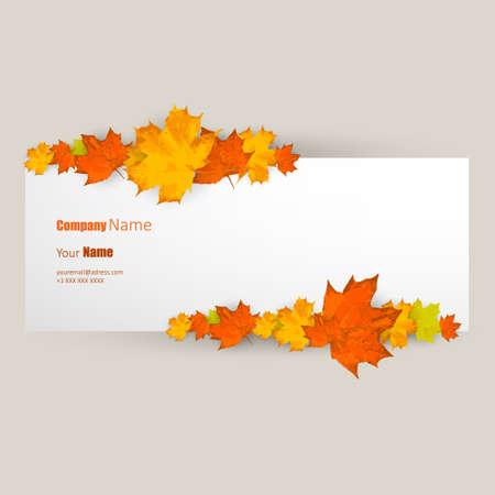 Vector autumn leaves banner illustration Illustration