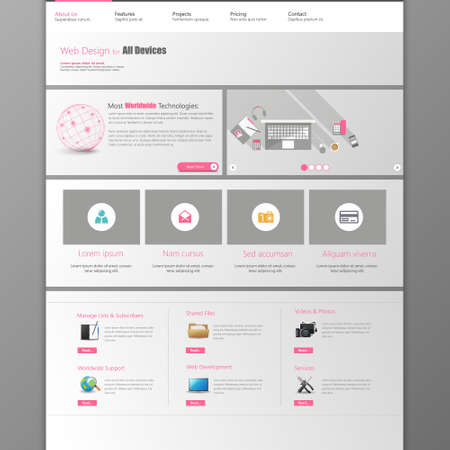 page layout: website template.  Metro Website Template