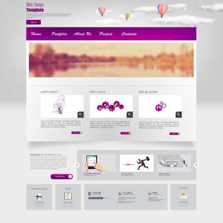 profesional: Professional website template vector illustration, Illustration