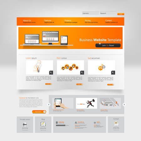 web site design template: Website Template Vector Illustration.