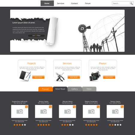 page layout: Website Template Vector Illustration Illustration
