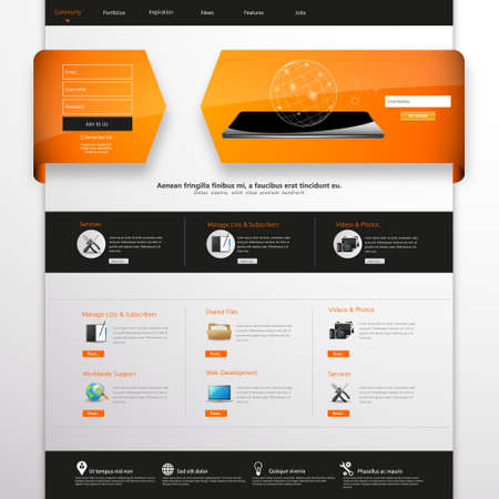 user friendly: Website template for your business Illustration