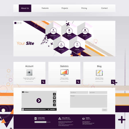 Modern Trendy and Creative Website Template. Abstract web design illustration Vector
