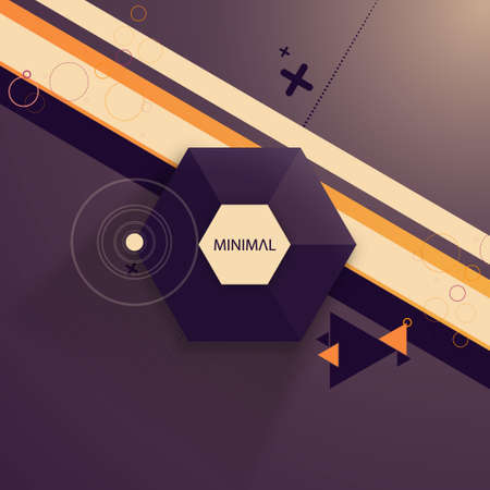 Abstract Design Hexagonal Minimal Background Vector