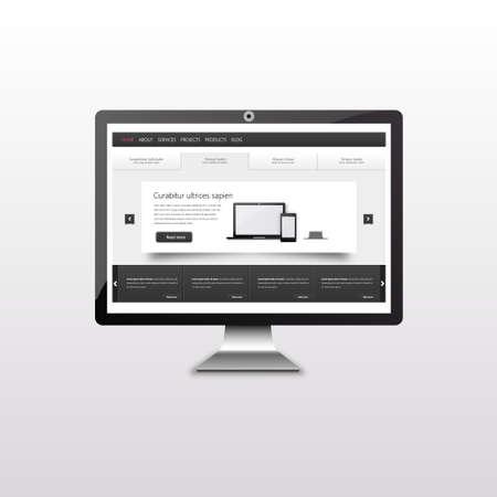 flexible business: Responsive web design. user interface on touchscreen