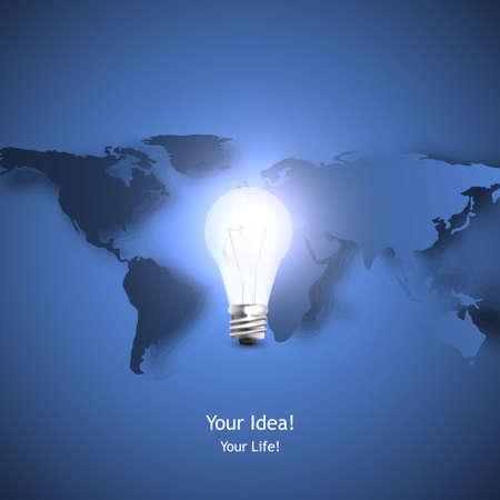 conceptual bulb: stylish conceptual digital light bulb idea design