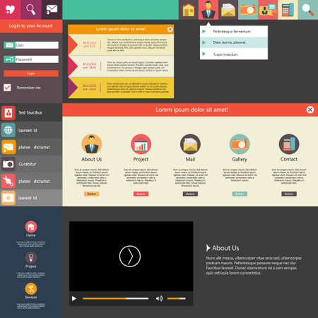 web design template: Flat Design  Website Template