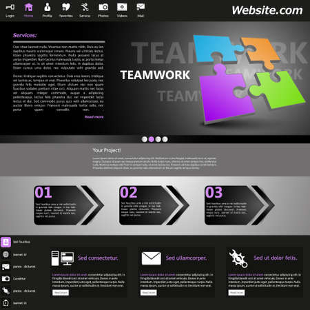 Gray Website Template /Teamwork Theme/