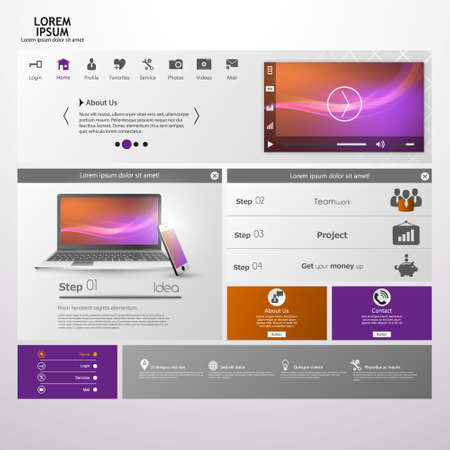 web design banner: Simple clean homepage template