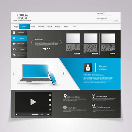 percentual: Modern web template, Ideal for business website with a lot of design elemenets.