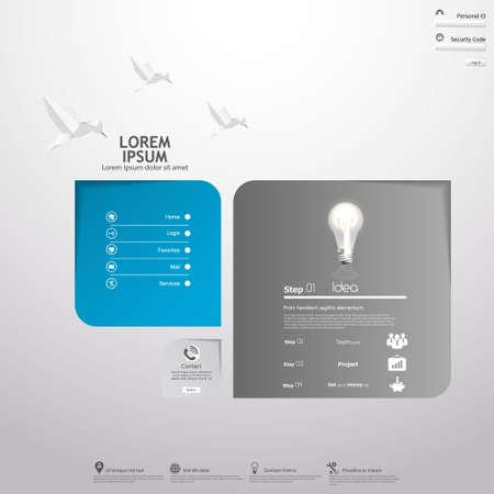 Minimal Layout design. Vector