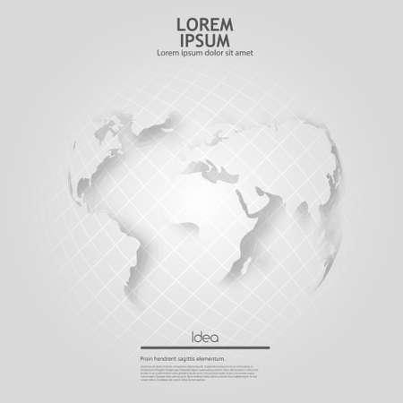 grey globe Ilustração