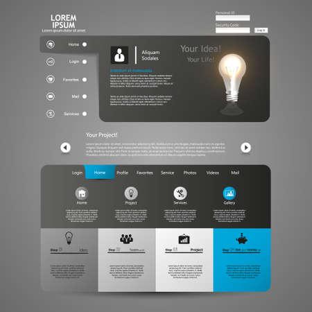 Clean, Modern Website template design