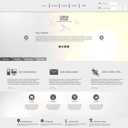 Modello di sito Web / Pulito e minimalista Vettoriali