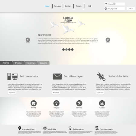 web site: Website Template  Clean and Minimalistic Illustration