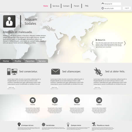 Website Template  Clean and Minimalistic Vector