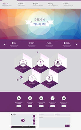 colorfu: One page website template with colorfu low polygon background.