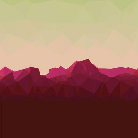 mountainous: Mountainous terrain, polygonal background, vector illustration.