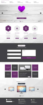 kit design: One page website design template. All in one set for website design that includes one page website templates and uxui kit for website design.