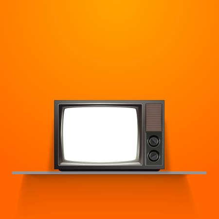 Vector Vintage Televisión Retro Ilustración de vector