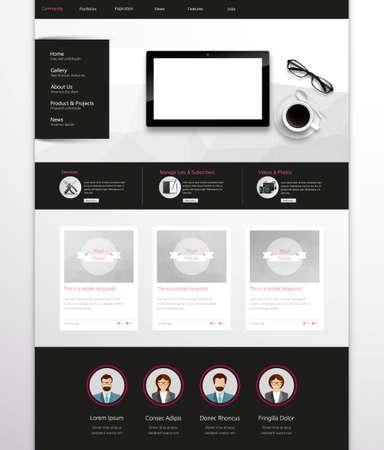 Modern Clean Website Template  Vector