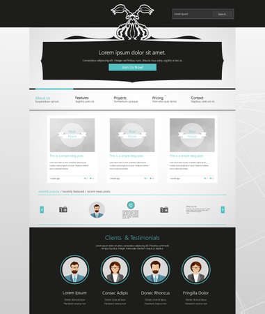 Website Template with ornaments. Vector