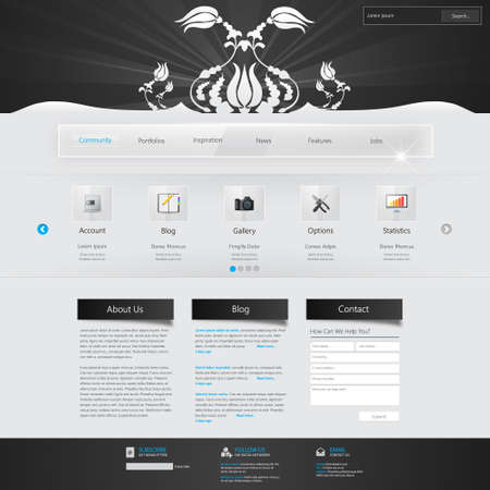 webtemplate: Website Template with ornaments.