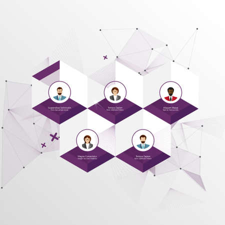 peoples: Modern Business Hexagon Design template  can be used for infographics Illustration