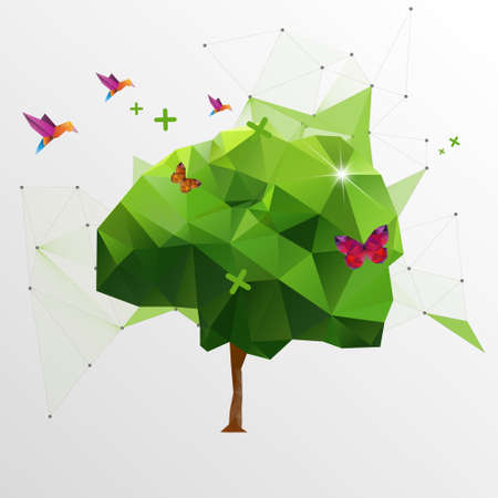 polygons: Origami tree